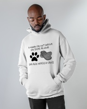 She Also Needs A Dogs Hooded Sweatshirt apparel-hooded-sweatshirt-lifestyle-front-09