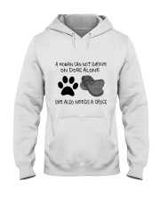 She Also Needs A Dogs Hooded Sweatshirt front