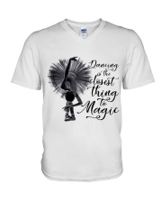 Dancing Is The Closet Thing V-Neck T-Shirt thumbnail