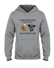 She Also Neef A Cow Hooded Sweatshirt thumbnail