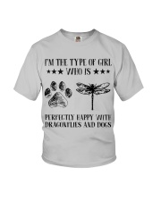 Dragonflies And Dogs Youth T-Shirt thumbnail