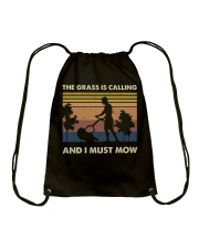 The Grass Is Calling Drawstring Bag thumbnail