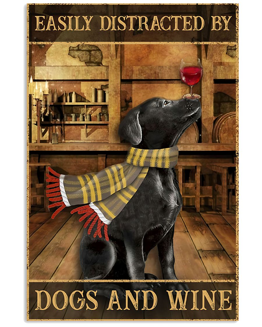 Dogs And Wine 11x17 Poster