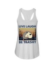 Live Laugh Be Trashy Ladies Flowy Tank thumbnail