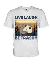 Live Laugh Be Trashy V-Neck T-Shirt thumbnail