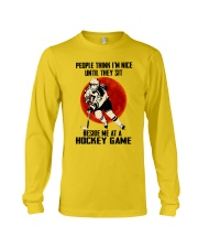 Beside Me At A Hockey Game Long Sleeve Tee thumbnail