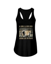 A Girl And Her Dog Ladies Flowy Tank thumbnail