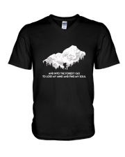 And Into The Forest I Go 2 V-Neck T-Shirt thumbnail