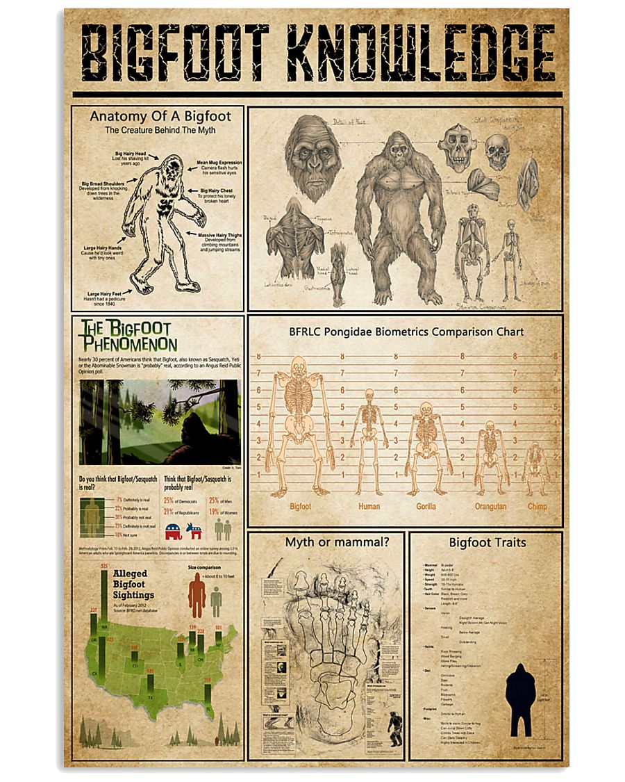 Bigfoot Knowledge 11x17 Poster