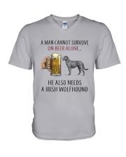 Irish Wolfhound V-Neck T-Shirt thumbnail