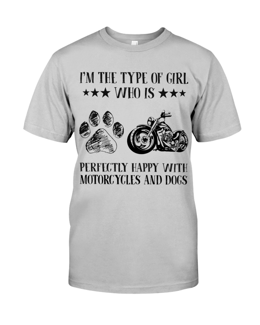 Motorcylces And Dogs Classic T-Shirt
