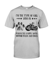 Motorcylces And Dogs Classic T-Shirt front