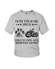 Motorcylces And Dogs Youth T-Shirt thumbnail