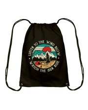 Listen To The Wind Blow Drawstring Bag thumbnail