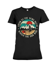 Listen To The Wind Blow Premium Fit Ladies Tee thumbnail