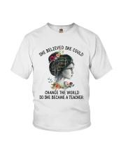 She Became A Teacher Youth T-Shirt thumbnail