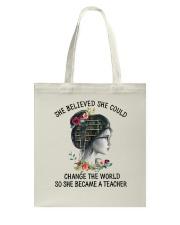 She Became A Teacher Tote Bag thumbnail