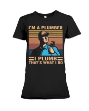 I'm A Plumber Premium Fit Ladies Tee thumbnail