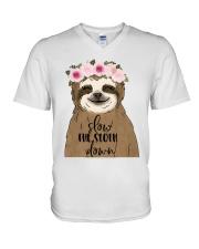 Slow Down V-Neck T-Shirt thumbnail