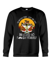 Peace Love And Light Crewneck Sweatshirt thumbnail