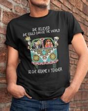 She Became A Teacher Classic T-Shirt apparel-classic-tshirt-lifestyle-26