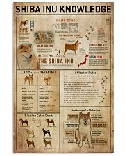 Shiba Inu Knowledge 11x17 Poster front