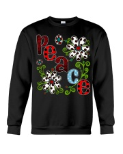 Peace Flowers Crewneck Sweatshirt thumbnail