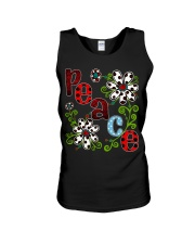 Peace Flowers Unisex Tank tile