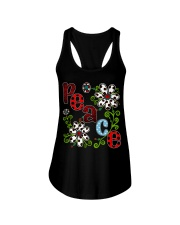 Peace Flowers Ladies Flowy Tank thumbnail