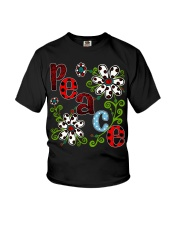 Peace Flowers Youth T-Shirt thumbnail