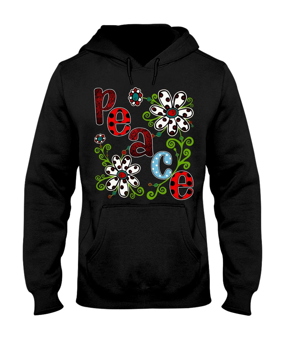 Peace Flowers Hooded Sweatshirt