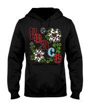 Peace Flowers Hooded Sweatshirt front