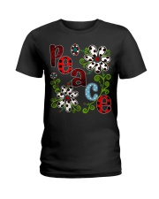 Peace Flowers Ladies T-Shirt thumbnail