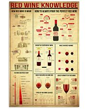 Red Wine Knowledge 11x17 Poster front