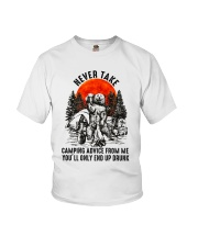 Camping Advice From Me Youth T-Shirt thumbnail
