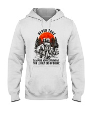 Camping Advice From Me Hooded Sweatshirt front