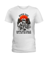 Camping Advice From Me Ladies T-Shirt thumbnail