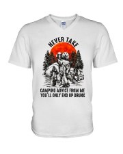 Camping Advice From Me V-Neck T-Shirt thumbnail