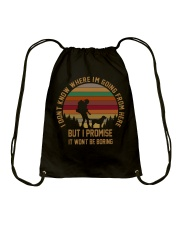 I Wont Be Boring Drawstring Bag thumbnail