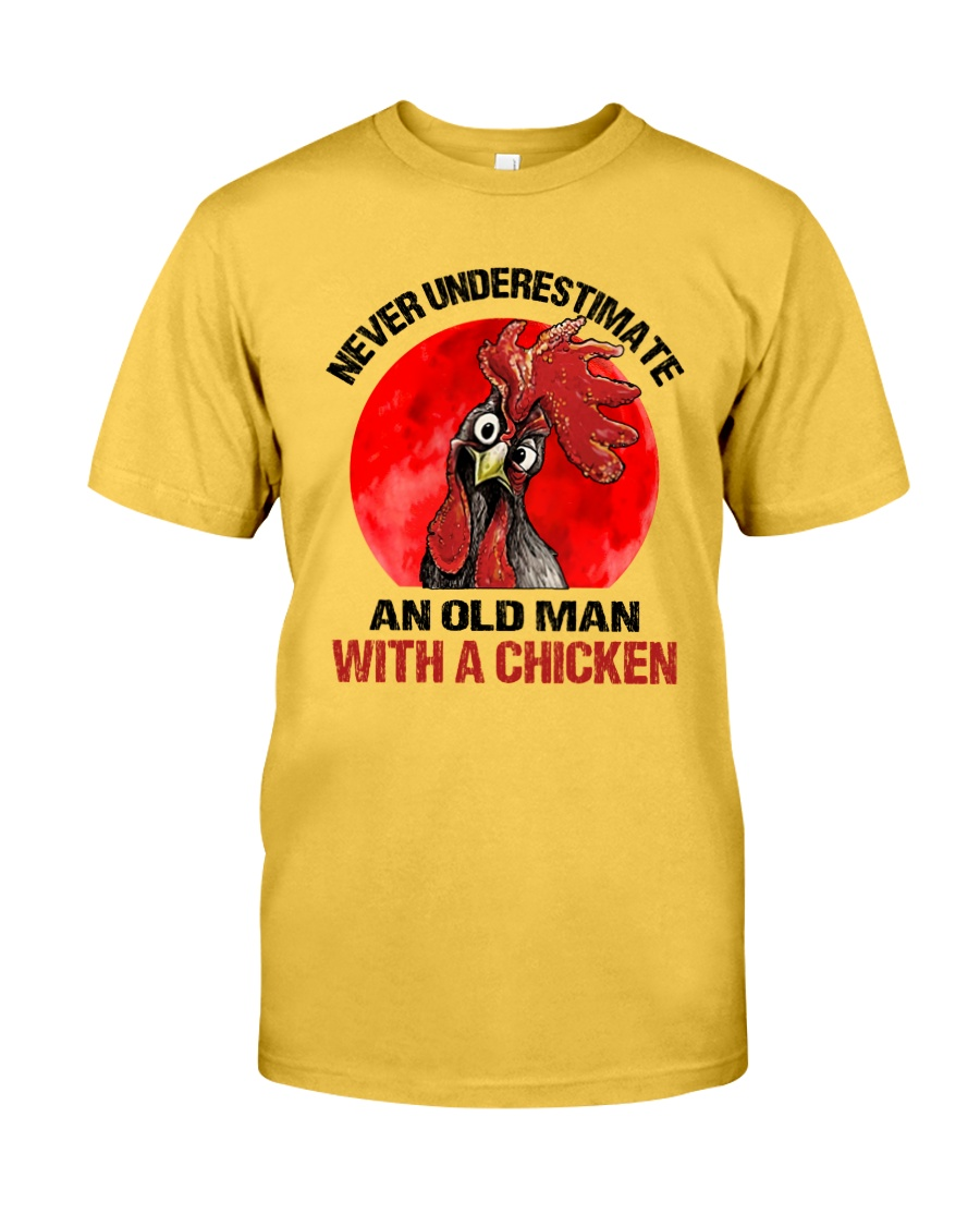 An Old Man With A Chicken Classic T-Shirt