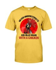 An Old Man With A Chicken Classic T-Shirt front