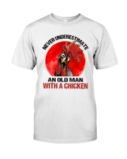 An Old Man With A Chicken Premium Fit Mens Tee thumbnail