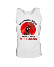 An Old Man With A Chicken Unisex Tank thumbnail