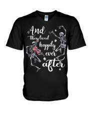 And They Lived Happily V-Neck T-Shirt thumbnail