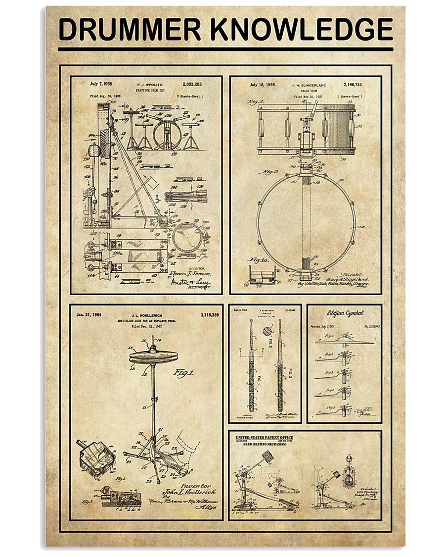 Drummer Knowledge 16x24 Poster
