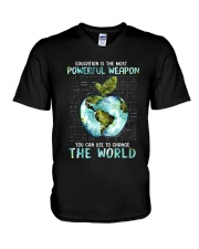 Powerful Weapon V-Neck T-Shirt thumbnail