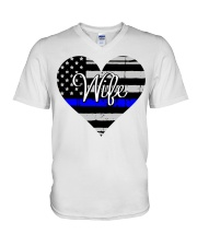 Wife Police V-Neck T-Shirt thumbnail