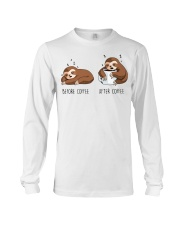 Before And After Coffee Long Sleeve Tee thumbnail