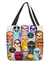 Love Sloth All-over Tote front