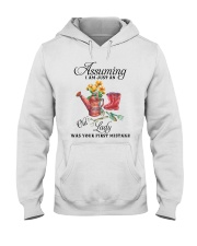 I Am Just An Old Lady Hooded Sweatshirt front